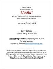 spark faculty focus workshop