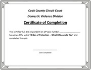 certificate of completion with print option