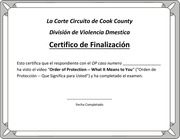 spanish certificate of completion with print option