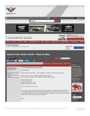 carbon fiber dash install step by step corvette forum
