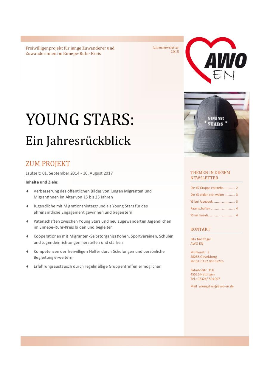 Document preview Young Stars Jahresnewsletter.pdf - page 1/4