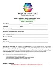 food and bev donor form