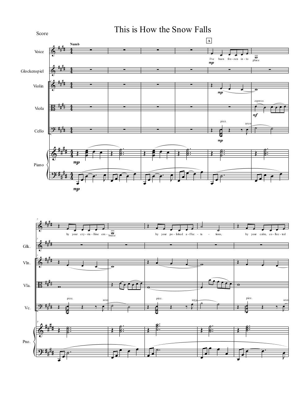 This is How the Snow Falls Piano Score.pdf - page 1/9