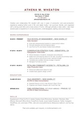 athena wheaton current resume