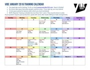 feb 2016 vibe training calendar