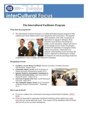 the intercultural facilitator program