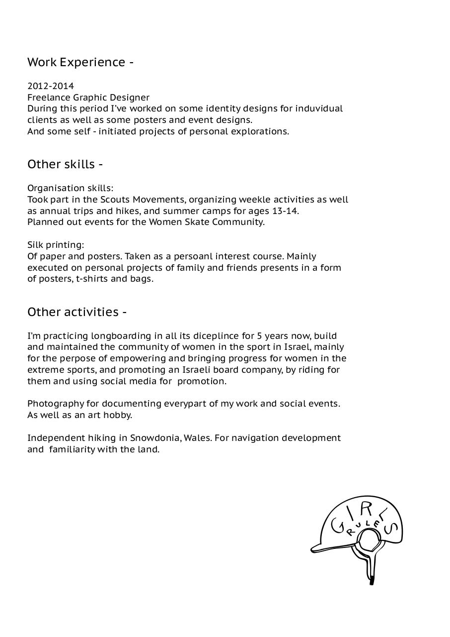 cv pdf pdf archive other skills organisation skills took part in the scouts movements organizing weekle activities as well as annual trips and hikes and summer camps for