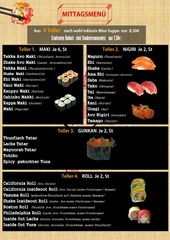 sushi ichi mittag menu a4