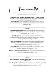 PDF Document valentines menu 2016
