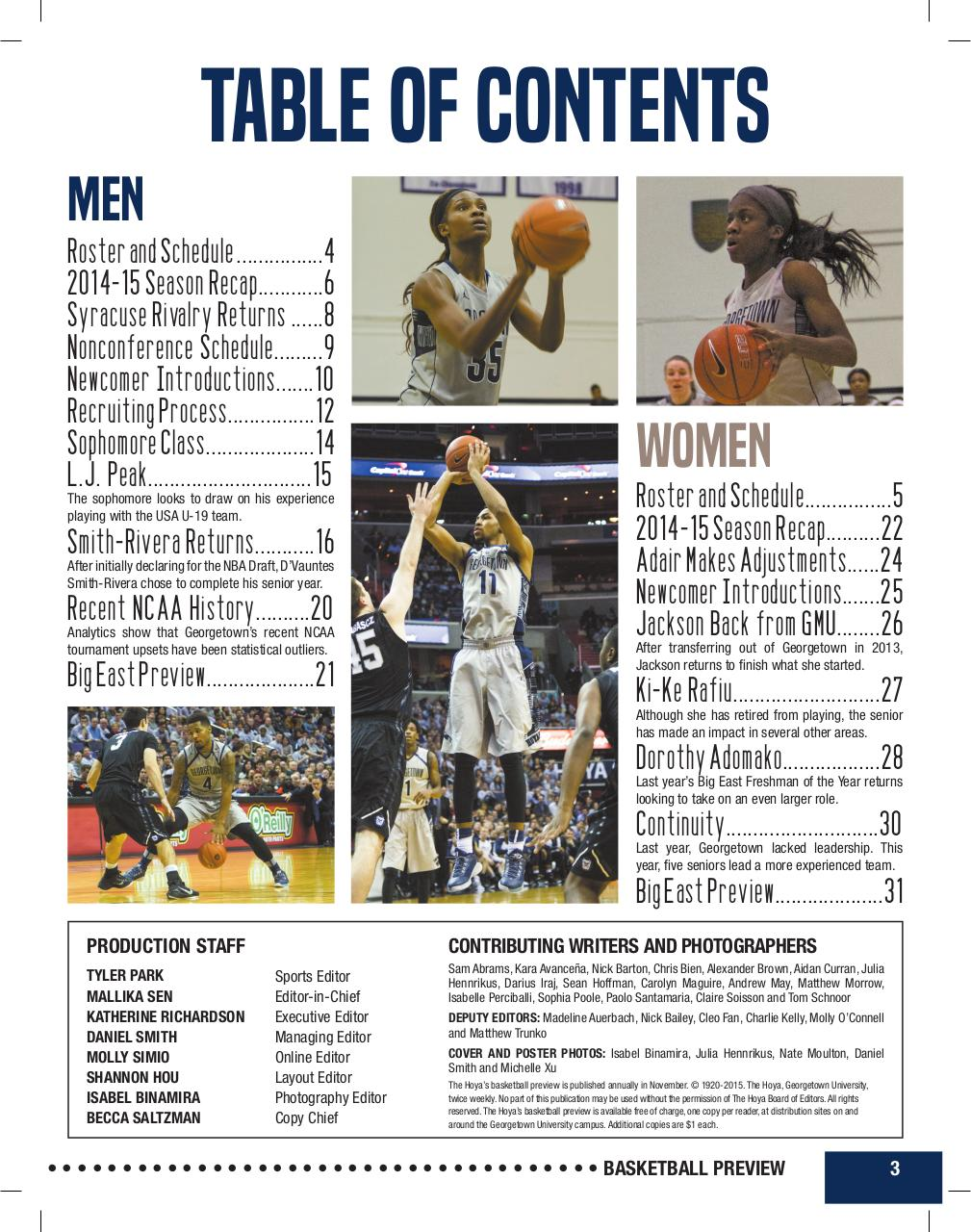 The Hoya Basketball Preview 15-16.pdf - page 3/32