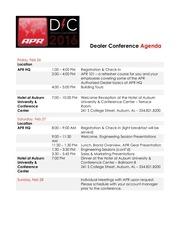 PDF Document dealer conference agenda