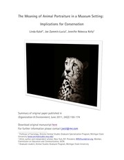 summary meaning animal portraiture