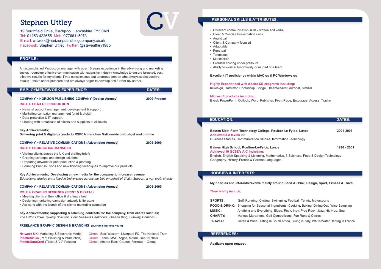 Document preview Stephen_Uttley_CV.pdf - page 1/1