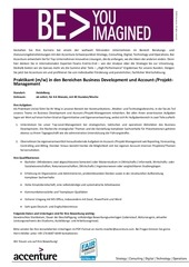 accenture bd und account projektmanagement