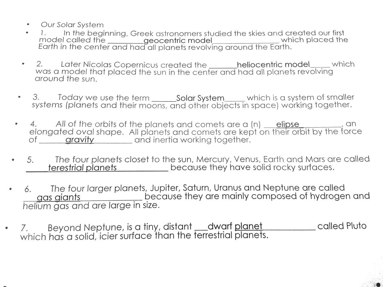 Solar system booklet notes.pdf - page 1/14