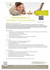 stellenanzeige vertreibsassistenz horbach heidelberg