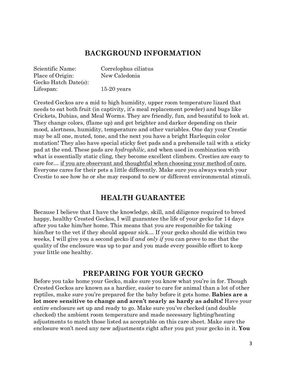 Crested Gecko Care Sheet.pdf - page 3/15