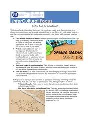 newsletter spring break tips