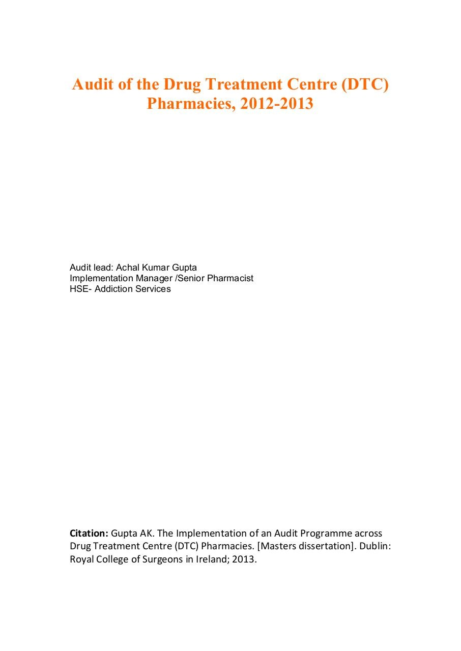Clinical Audit - Drug Treatment Centre Pharmacies.pdf - page 1/18