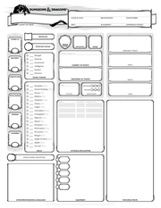 PDF Document character sheet form fillable