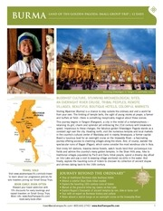 burma a journey beyond the ordinary for two