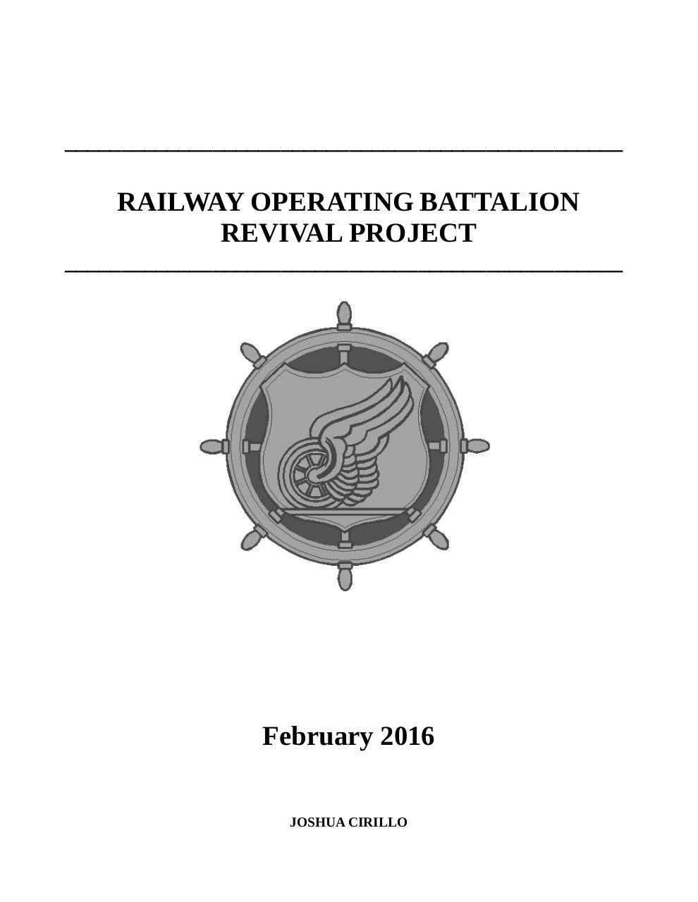 Railway-Operating-Battalion-Revival-Project.pdf - page 1/27