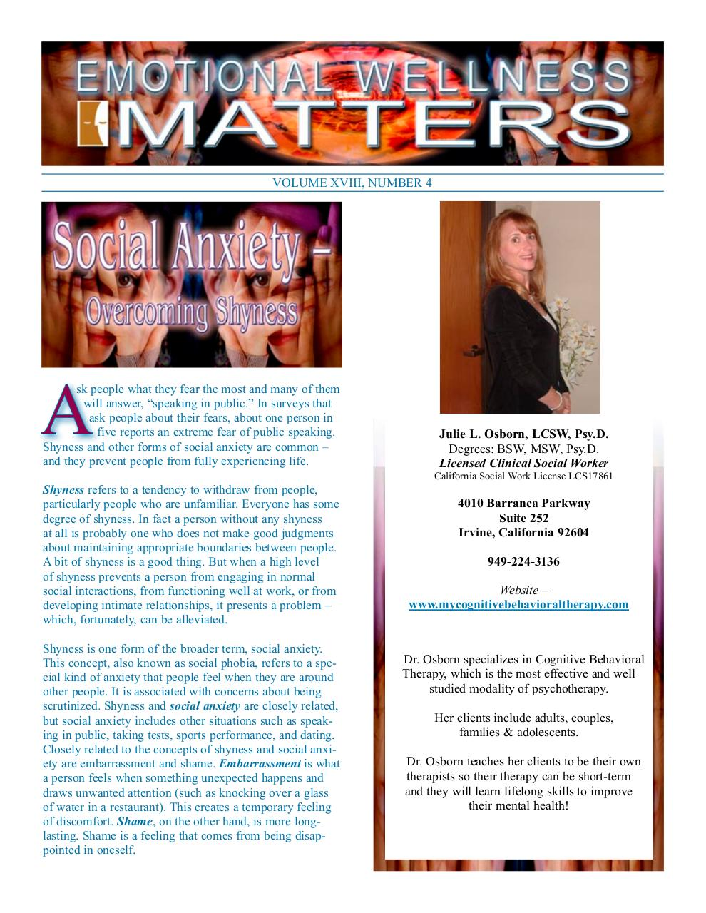 social anxiety newsletter.pdf - page 1/4