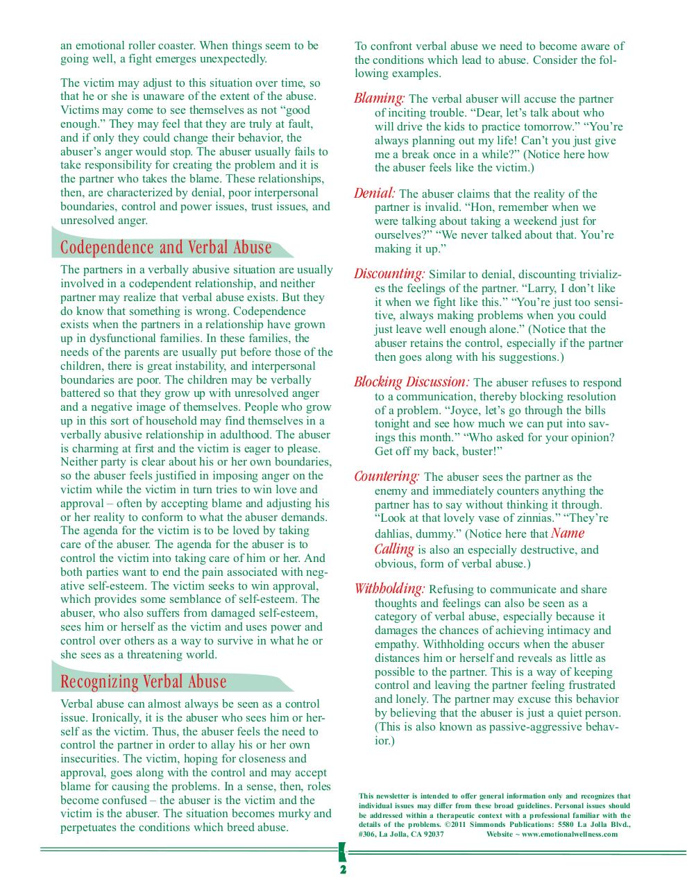 Verbal Abuse Newsletter.pdf - page 2/4