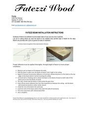 beam installation instructions
