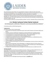 lbs senior lecturer ausschreibung