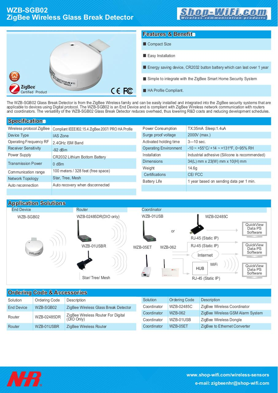 Document preview WZB-SGB02_ZigBee_Wireless_Glass_Break_Detector-NHR-SHOP-WiFi.pdf - page 1/1