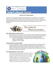 PDF Document newsletter resources for students