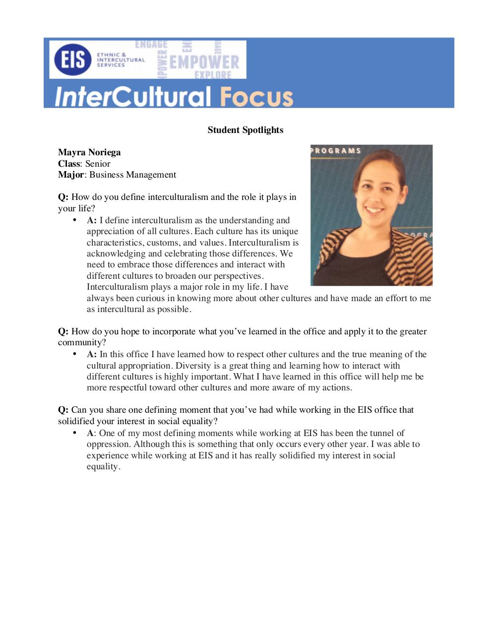 Newsletter-Student Spotlight.pdf - page 1/2