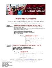 spring break activities for international students