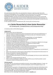 lbs senior researcher ausschreibung