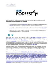 4th annual nyc podfest
