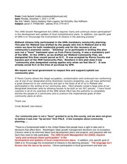 cindy beckett letter opposing approval