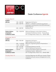 dealer conference agenda email intnl