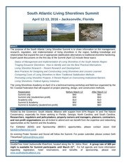 south atlantic living shorelines summit flyer