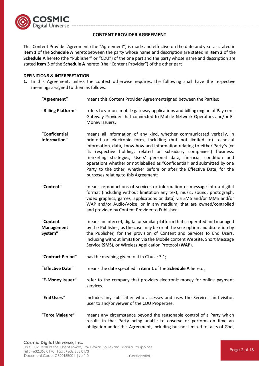 Content Provider Agreement - 2016_Series.PDF - page 3/19