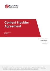 content provider agreement 2016 series