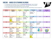 mar 2016 vibe training calendar
