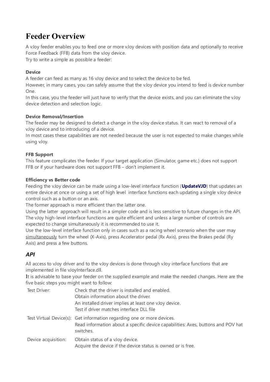 vJoyInterface by Shaul Eizikovich - PDF Archive