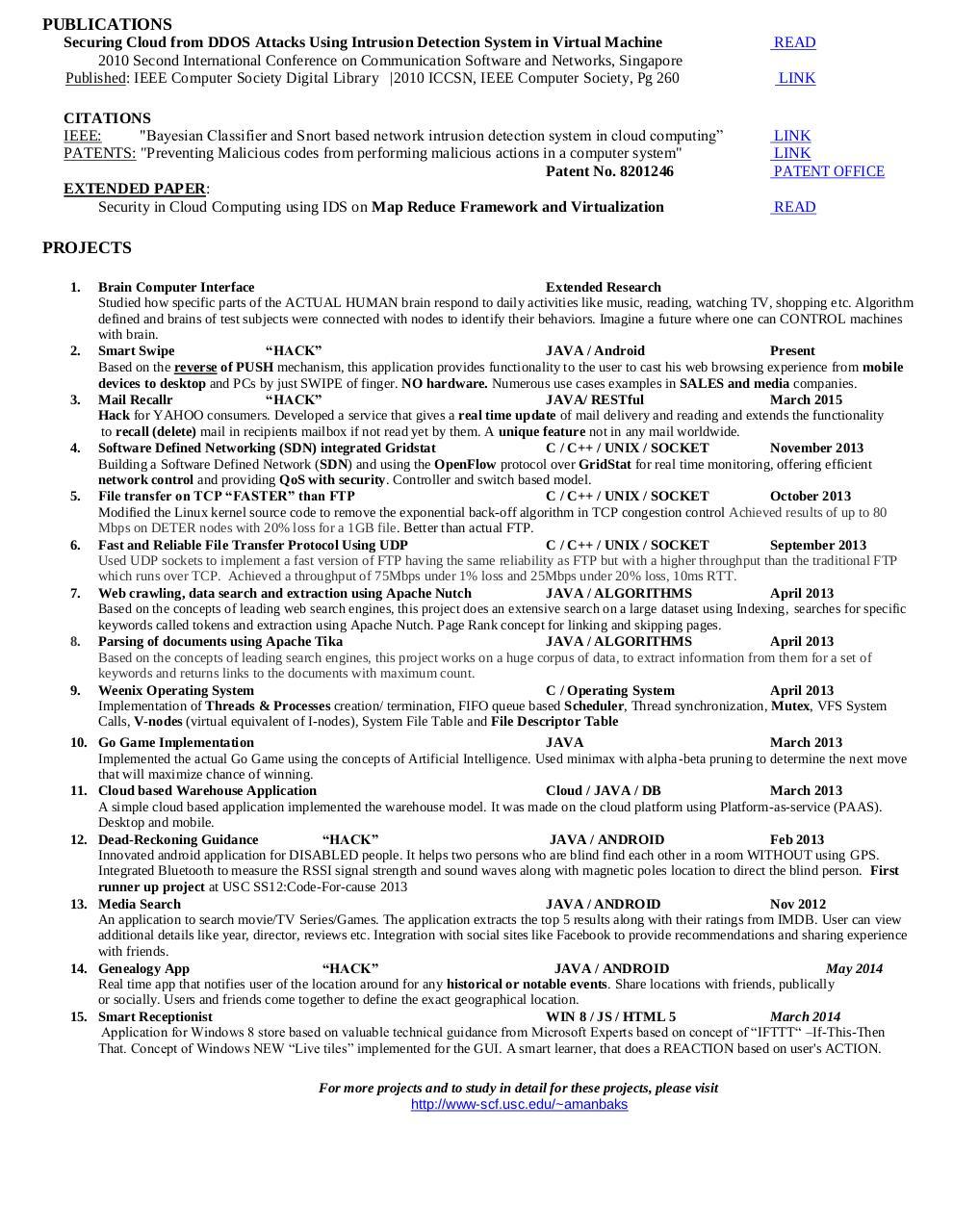 Resume Aman Bakshi by Aman Bakshi - PDF Archive