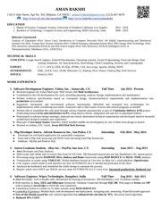 resume aman bakshi