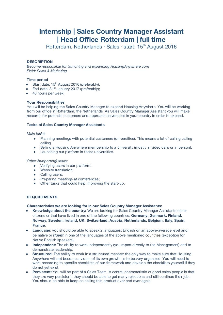 Sales Country Manager Assistant_HousingAnywhere.com.pdf - page 1/2