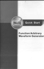 PDF Document waveform generator quick start um