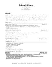 briggs milburn resume