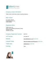 PDF Document company contact info for mailing