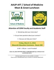 aaup meet and greet march 11 2016 3